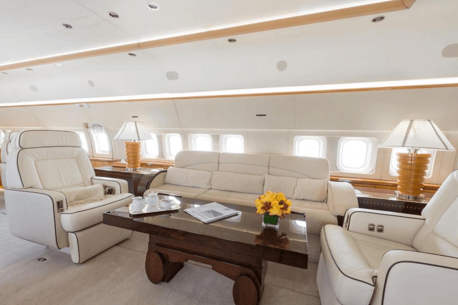 Silver Air jet iç tasarım