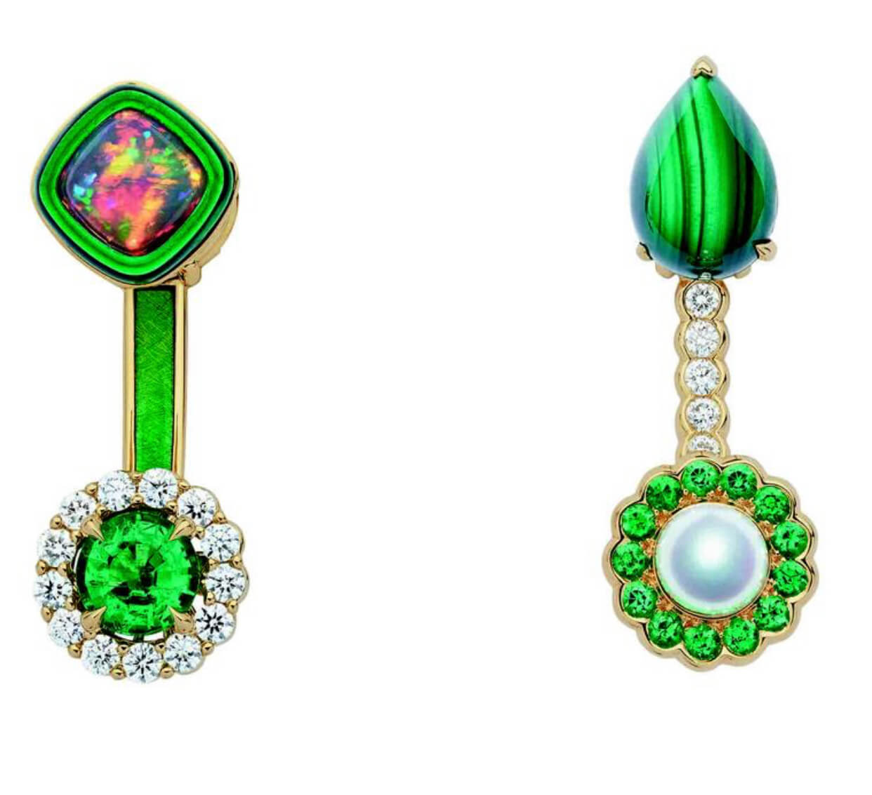 opal yeşil küpe