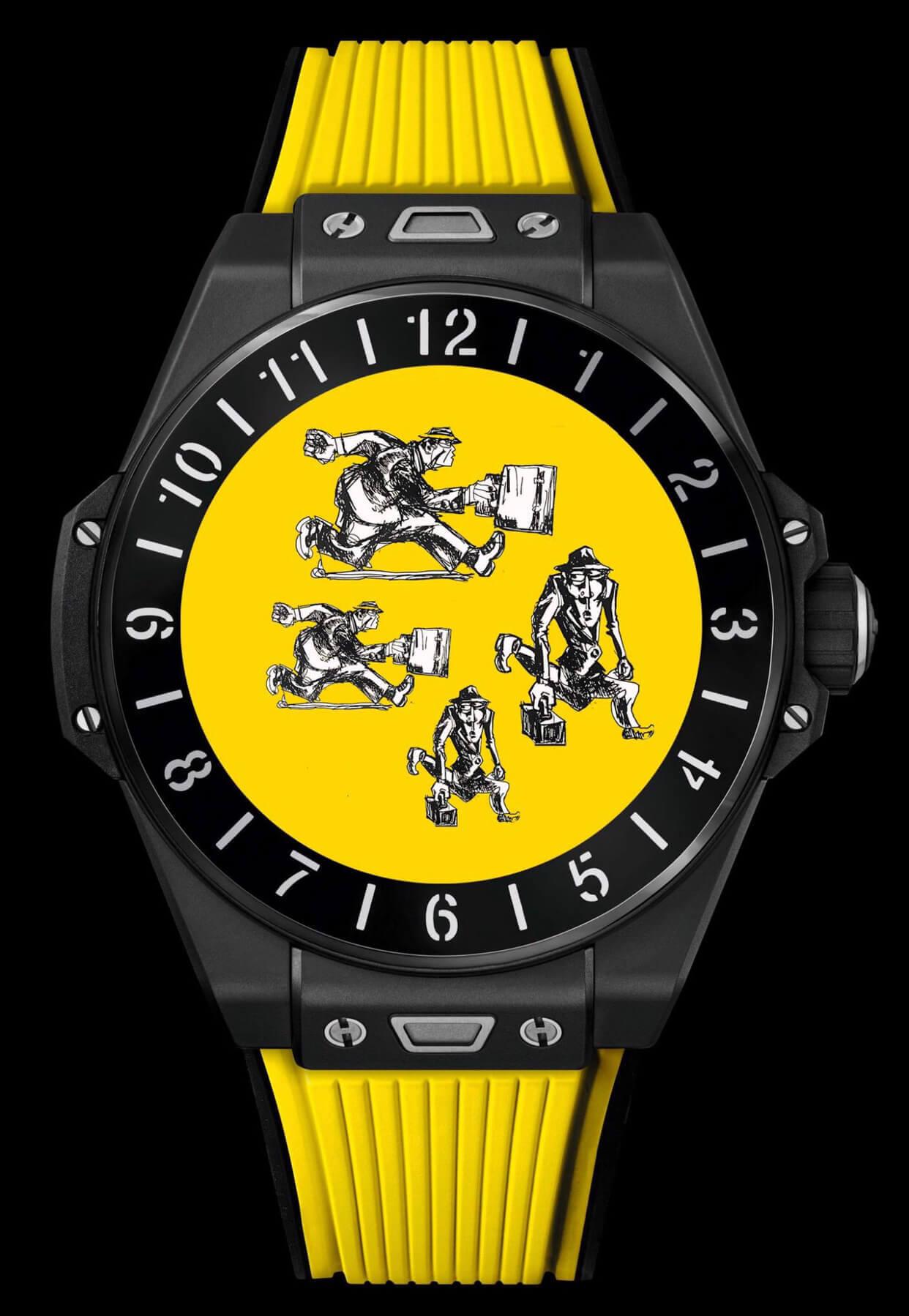 hublot akıllı saat sarı model