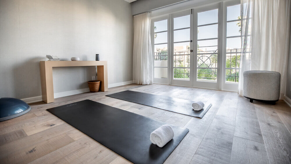 four seasons los angeles özel fitness süit yoga