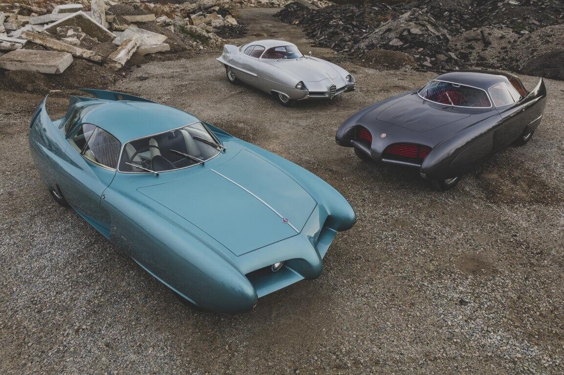 Üç Alfa Romeo Berlina Aerodinamica Tecnica konsept hakkında bilgiler