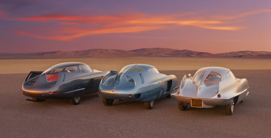 Üç Alfa Romeo Berlina Aerodinamica Tecnica konsept bilgisi