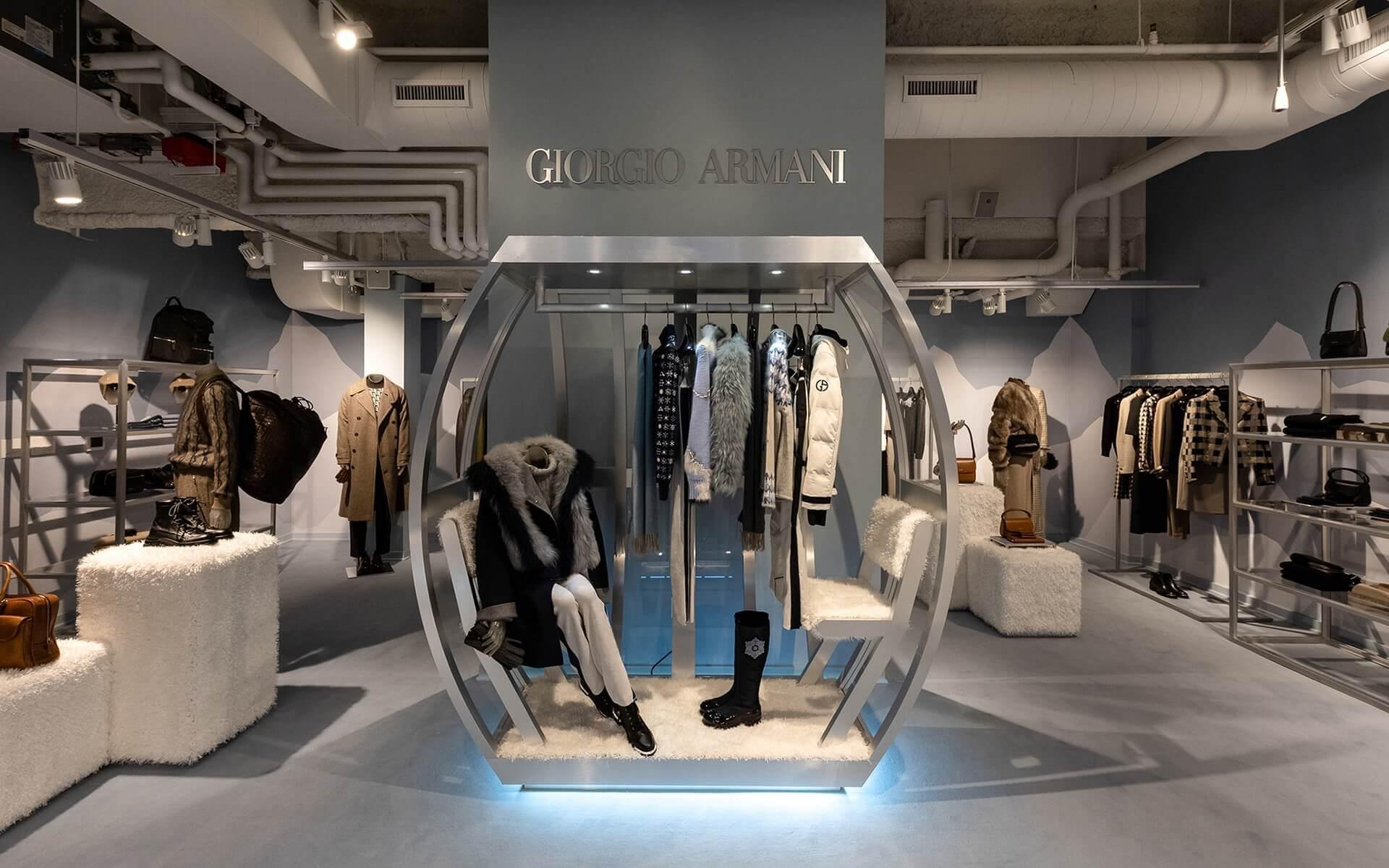 giorgio armani aspen mağaza tasarımı