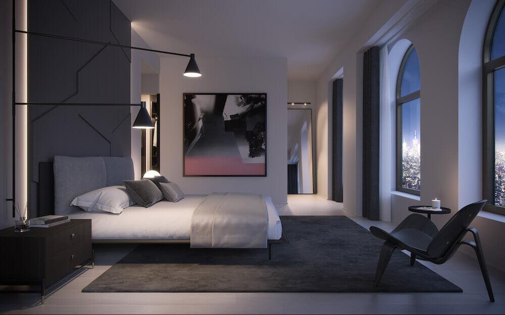 aston martin özel tasarım ev yatak odası