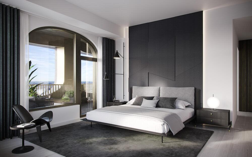 aston martin özel tasarım ev yatak oda görsel