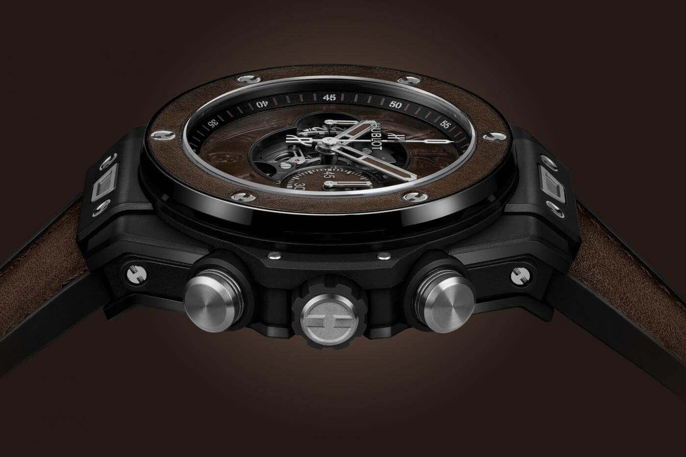 Hublot Big Bang Unico Berluti Cold Brown saat foto