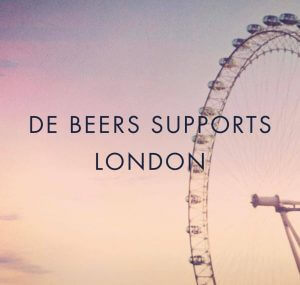 de beers supports london