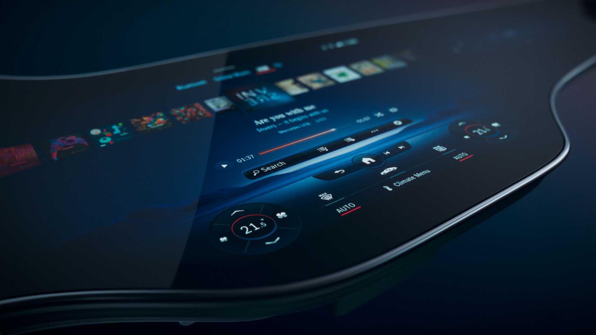 mercedes yeni nesil MBUX Hyperscreen panel bilgi