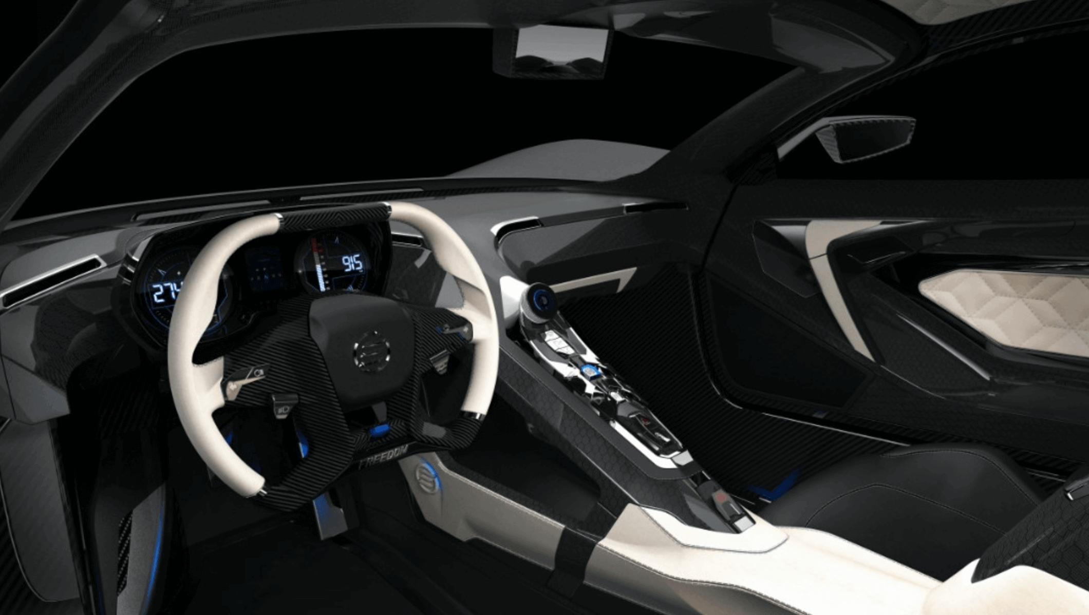 elation hypercars cascadia motion araba iç tasarım