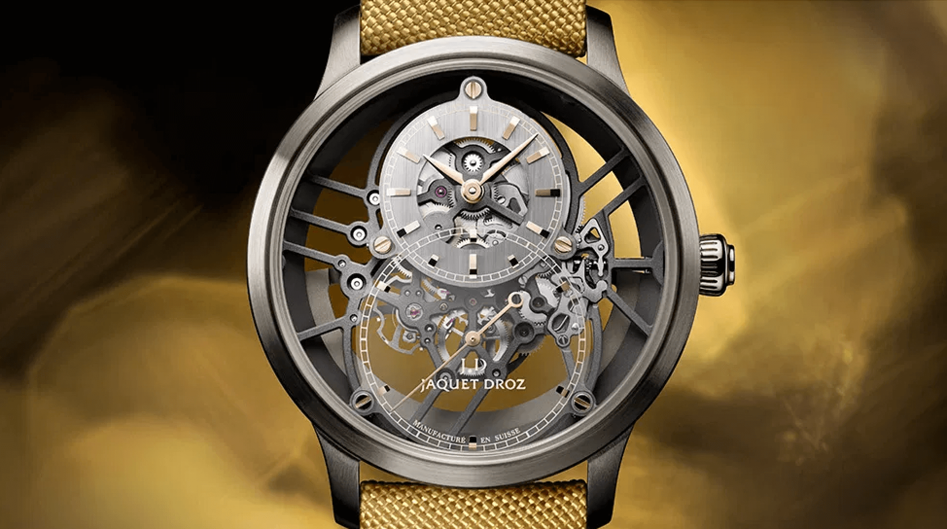 JAQUET DROZ GRANDE SECONDE SKELET-ONE TRİO saat fotoğraf